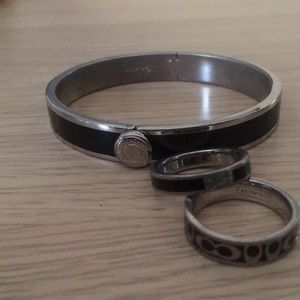 Coach bangle bracelet and ring set